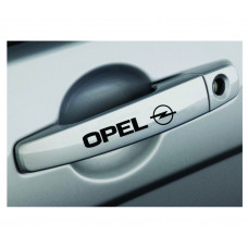 Set stickere manere Opel, sticker decorativ, culoare neagra