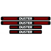 Set stickere praguri Duster, negru-rosu-alb, sticker decorativ