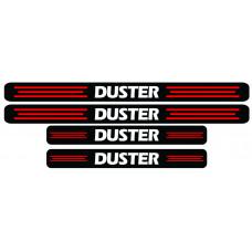 Set stickere praguri Duster, negru-rosu-alb, sticker decorativ
