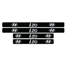 Set 4 stickere praguri Hyundai i 20, sticker decorativ