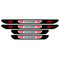 Set stickere praguri Hyundai, multicolor, decorativ