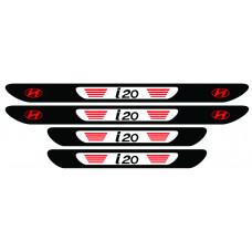 Set 4 stickere praguri Hyundai i20, multicolor, decorativ