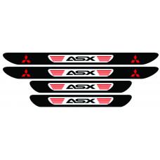 Set stickere praguri Mitsubishi ASX, multicolor, decorativ
