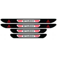 Set stickere praguri Mitsubishi, multicolor, decorativ