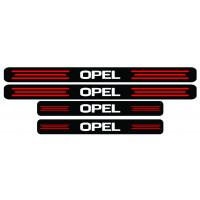 Set stickere praguri Opel, negru-rosu-alb, sticker decorativ