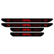 Set stickere praguri Opel, negru - rosu, sticker decorativ