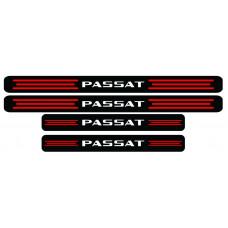 Set stickere praguri Passat, negru-rosu-alb, sticker decorativ
