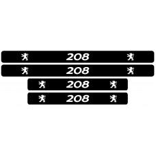 Set stickere praguri Peugeot 208