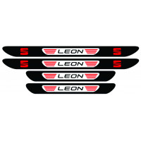 Set stickere praguri Seat Leon, multicolor, decorativ