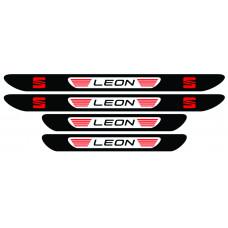 Set stickere praguri Seat Leon, multicolor, decorativ