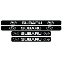Set stickere praguri Subaru, sticker decorativ
