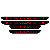 Set stickere praguri Suzuki, negru - rosu, sticker decorativ