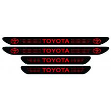 Set stickere praguri Toyota, negru - rosu, sticker decorativ
