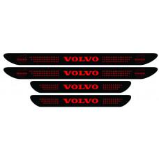 Set stickere praguri Volvo, negru - rosu, sticker decorativ